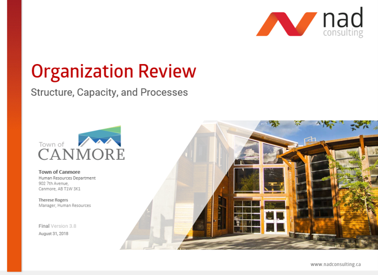 Canmore Org Review report